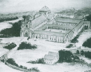 Artists impression of the Monastry